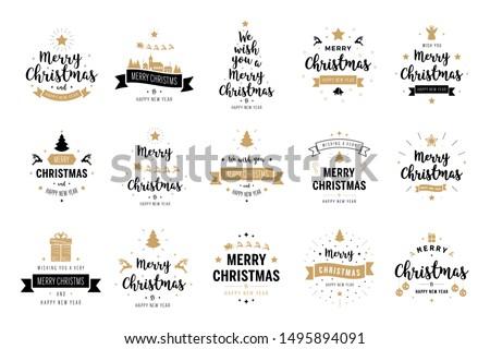 boldog · új · évet · illusztráció · tipográfia · levél · díszítő · labda - stock fotó © robuart