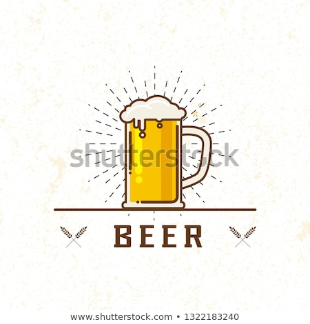 Keg of Beer and Glass of Ale Isolated on White Stock photo © robuart
