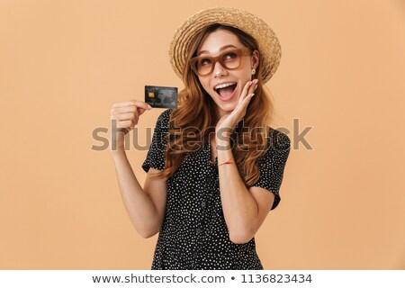 画像 魅力のある女性 20歳代 麦わら帽子 笑い ストックフォト © deandrobot
