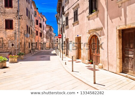 Mediterranean stone street of Vodnjan view stock photo © xbrchx