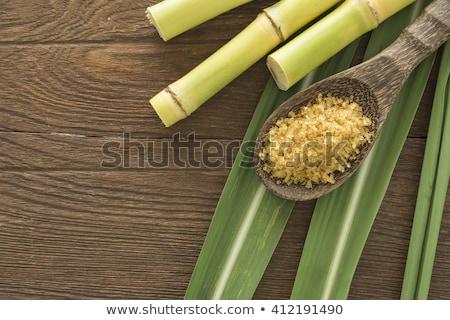 Bruin riet suiker bruine suiker vraagteken pack Stockfoto © AGfoto