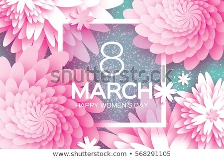 Elegant Women, Flower Bouquets Celebrate 8 March Stock photo © robuart