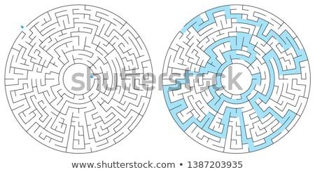 Maze, labyrinth, vector illustration. Round, circular maze. High quality vector.  Stock photo © ukasz_hampel