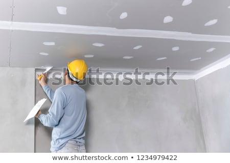 作業 · インテリア · 壁 · 家 · 建物 · 男 - ストックフォト © monkey_business