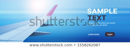 Air Tourism Website with Sky Transport Vector Stock photo © robuart