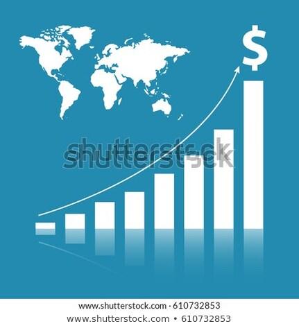 beurs · financieren · wereldkaart · illustratie · ideeën - stockfoto © limbi007
