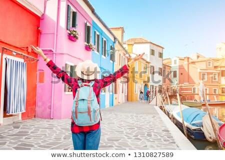 isla · casas · canal · barcos · calle - foto stock © andreypopov