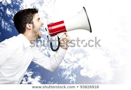 Hombre gritando frustración ira Foto stock © Giulio_Fornasar
