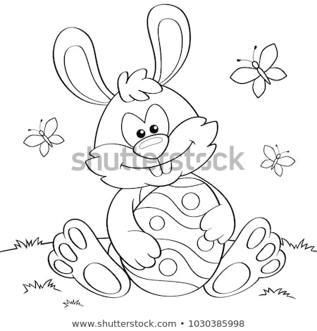 funny rabbits animal characters coloring book stock photo © izakowski