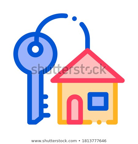 Key With Keyfob In Building Form Vector Sign Icon Stock photo © pikepicture