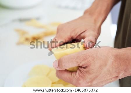 ruw · aardappel · schil - stockfoto © nito
