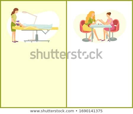 Makeup and Visagiste, Manicure Manicurist Posters Stock photo © robuart