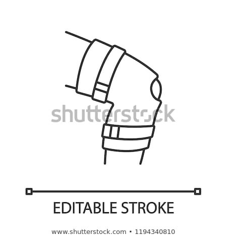 orthopedic medical bandage on knee vector icon stock photo © pikepicture