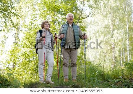 成熟した アクティブ 男 女性 トレッキング 立って ストックフォト © pressmaster