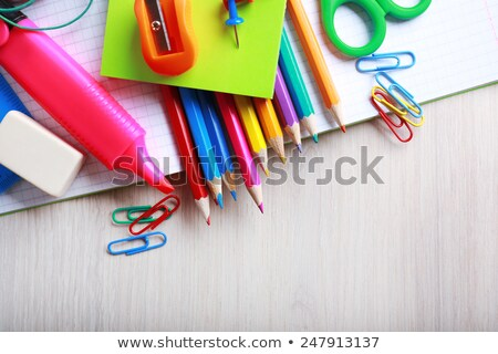 School and Office Stuff, Scissors and Ruler Stock photo © robuart