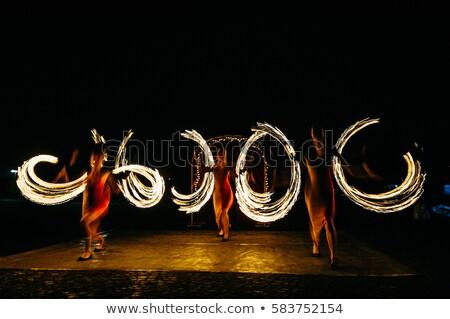 ярко спин огня sparks шоу ночь Сток-фото © ruslanshramko
