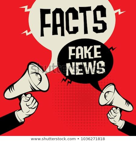Fake news concept vector illustration Stock photo © RAStudio