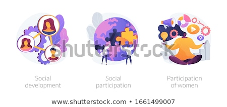 Stock photo: Social network behaviour vector concept metaphors.