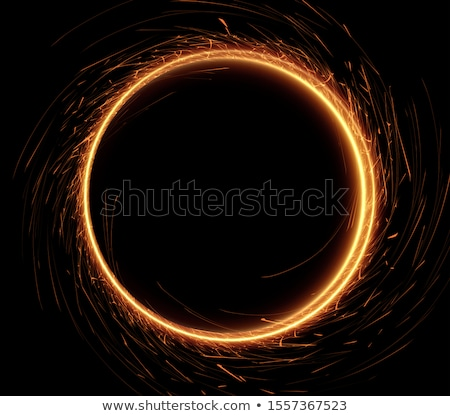 shined trails of christmas garland lights as a firework stock photo © artjazz