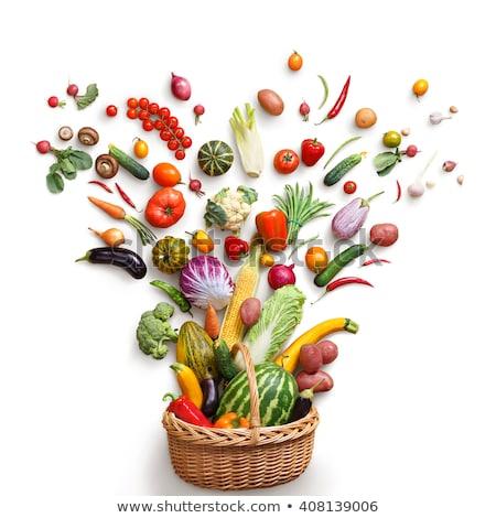 iştah · açıcı · taze · sebze · gıda · malzemeler · salatalık · kırmızı - stok fotoğraf © simply