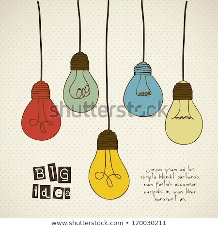 Man gloeilamp business idee vector afbeelding Stockfoto © robuart