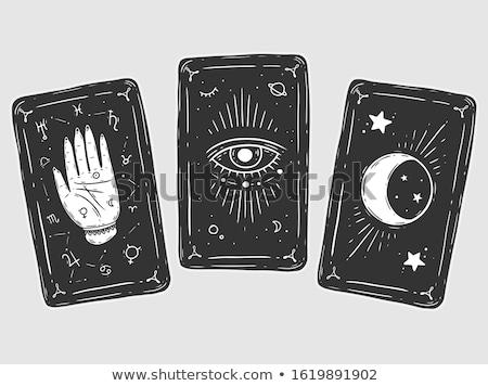 Tarot örnek kız gelecek kartları büyü Stok fotoğraf © adrenalina