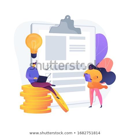 Banking documentazione vettore metafore contabili contabilità Foto d'archivio © RAStudio