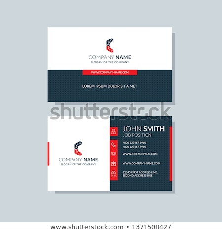 Vermelho preto geométrico cartão de visita modelo projeto Foto stock © SArts