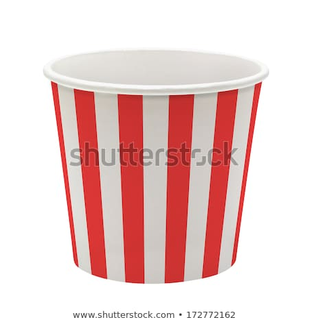 close up of popcorn in disposable paper cups Stock photo © dolgachov