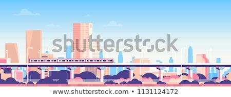 Metró vasútállomás szalag város szállítás terv Stock fotó © anbuch
