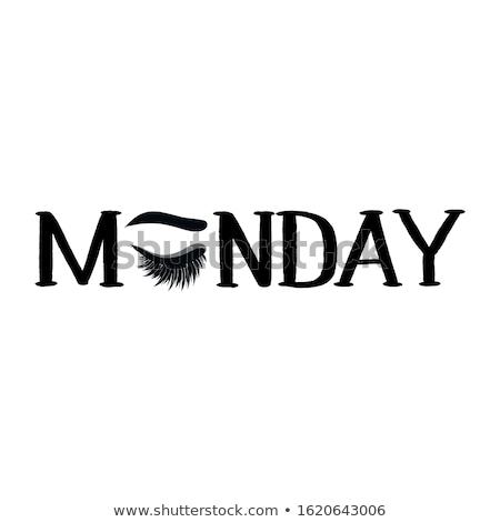 Monday -  Calligraphy phrase for beauty salon Stock photo © Zsuskaa