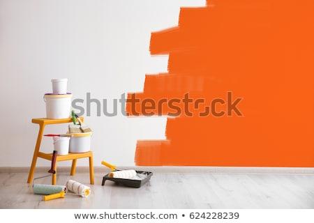 Szerszámok belső festmény szett falak otthon Stock fotó © Kotenko