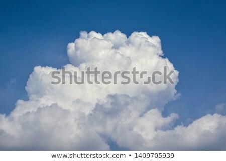 форма большой пушистый облака Blue Sky Сток-фото © artjazz