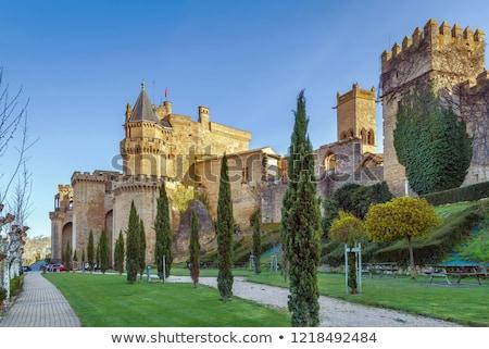 Paleis Spanje koninklijk stad boom Blauw Stockfoto © borisb17