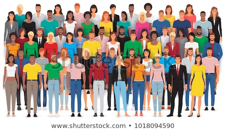 Women worker diverse character set isolated Stock photo © cienpies
