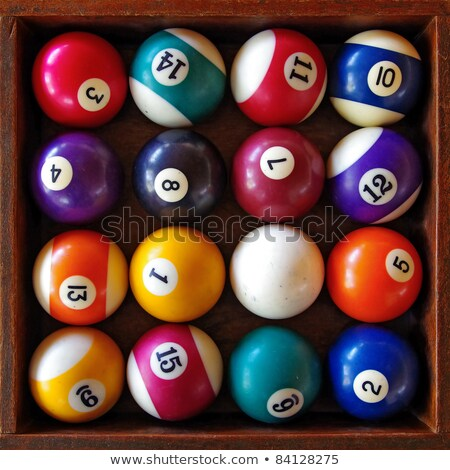 billiard balls in the box Stock photo © adrenalina