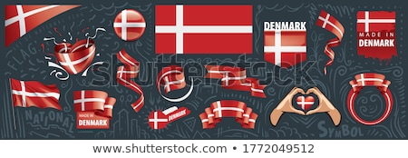 Vector set of the national flag of Denmark in various creative designs Stock photo © butenkow