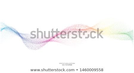 Falisty tęczy linie projektu tle Zdjęcia stock © SArts