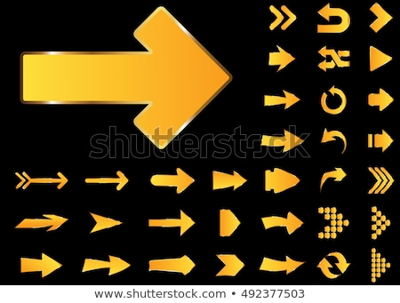 black and white arrow. Isolated 3d illustration Stock photo © ISerg