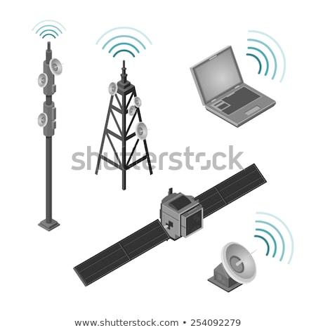 Satellite radio antenne isométrique icône vecteur Photo stock © pikepicture