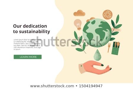 Zrównoważony rolnictwa lądowanie strona smart eco Zdjęcia stock © RAStudio