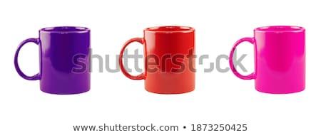 three multicolored mugs stock photo © elly_l