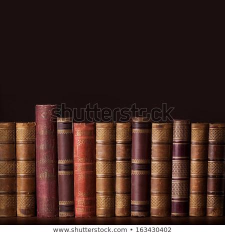 oude · dekken · boeken · Blauw - stockfoto © duoduo