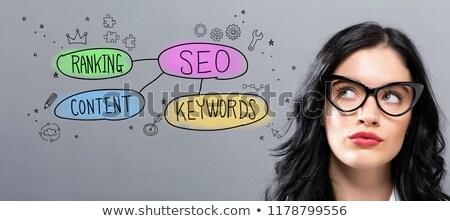 Closeup of a SEO flow chart  Stock photo © ivelin