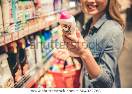 young woman in shop of household hygiene Stock photo © Paha_L