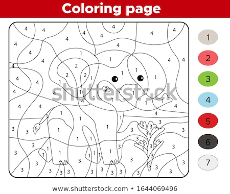 красочный номера ребенка детей счастливым знак Сток-фото © kariiika