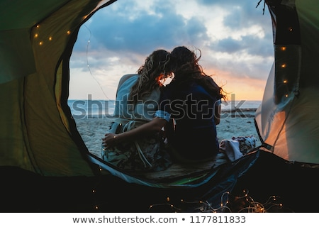 lesbian love on ocean stock photo © elenarts