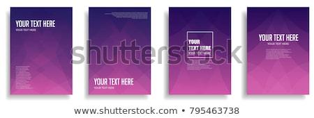 紫色 行 抽象的な 波 白 デザイン ストックフォト © vlastas