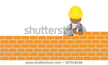 kicsi · téglák · építkezés · izolált · fehér · épület - stock fotó © Borissos