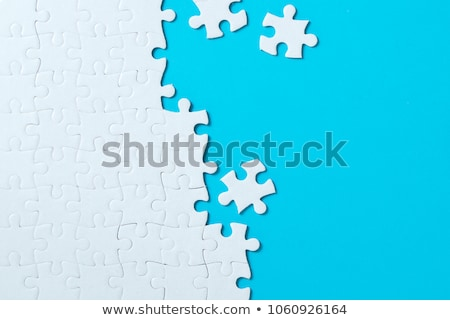 Puzzle bleu Photo stock © Kenishirotie